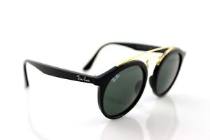 NEW-RAY-BAN-GATSBY-I-Black-Green-Classic-Round-Sunglasses-RB-4256-601-71-49MM