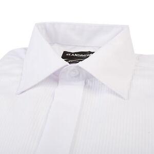 reputable site 1c90a 16942 Dettagli su Scuola Ballo Camicia Bianca Colletto Regolare Tux Nero Cravatta  Smoking Pieghe