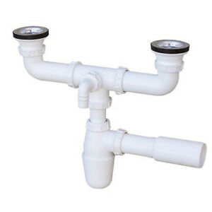 kitchen sink trap. Image Is Loading Double Drain Set Siphon Kitchen Sink  Trap PI319