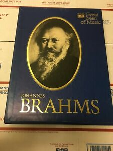 Time Life Great Men Of Music Cassettes Johannes Brahms Set of 4 SEALED