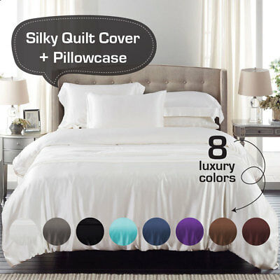 Duvet Cover with Pillow Case Quilt Cover Bedding Set Singe Double King /& S King