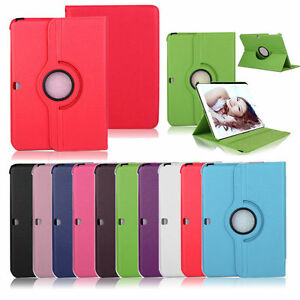 New-Leather-Folio-Stand-Tablet-Case-Cover-360-Degree-Rotating-For-Samsung-Galaxy