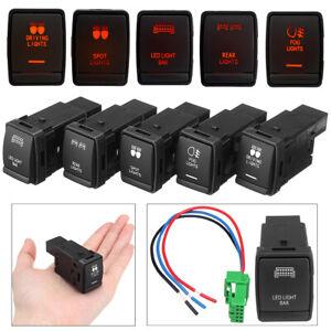 LED Fog Spot Driving Light Bar Switch For Nissan √ DY
