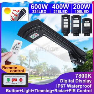 200-400-600W-LED-Fotovoltaico-Lampione-Stradale-Faro-Pannello-Solare-Telecomando