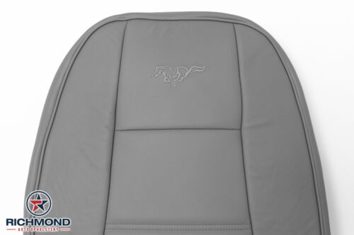 Driver Side Lean Back Leather Seat Cover Gray 2002 2003 2004 Ford Mustang V6
