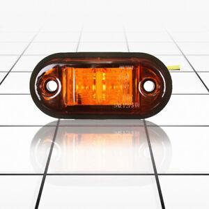 1X-12V-24V-2-LED-Side-Marker-Lights-Lamp-For-Car-Truck-Trailer-E-marked-J3P4