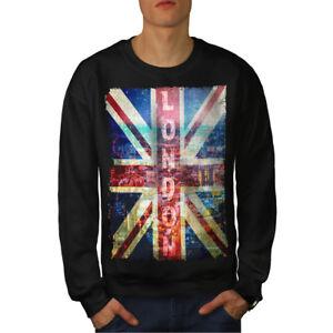 Herrenmode London England Art Men Sweatshirt New Kleidung & Accessoires Wellcoda QualitäT Und QuantitäT Gesichert