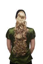 Haarteil Zopf Pferdeschwanz superlang lockig voluminös mittelblond blond T118-24