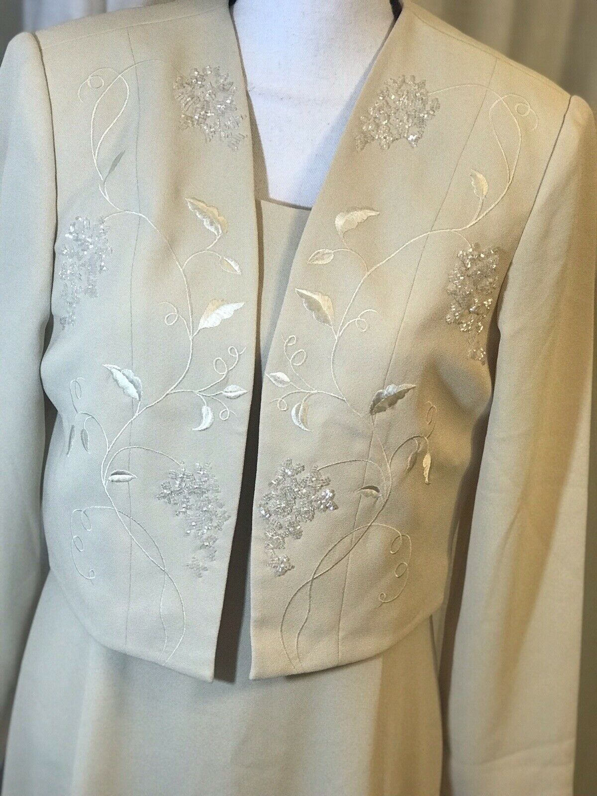 Stunning!! Pepell Boutique Mother Of The Bride/ Groom Sz 12 Ivory