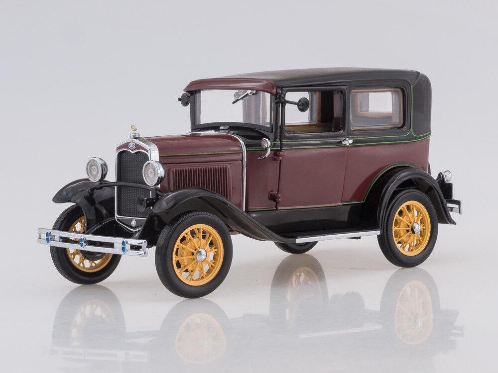 Modelo de escala 1 18 1931 1931 Ford Modelo A Tudor (rosso)