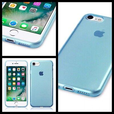 Apple Iphone 8 Custodia Cover Gel Flessibile Blu & Proteggi Schermo Spedizione Gratuita-