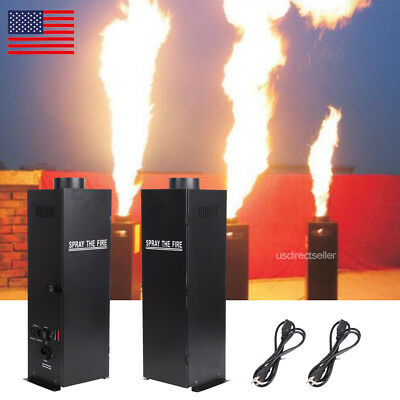 2Pcs Fuel Flame Thrower DJ Band Stage Show Effect DMX Fire Projector Machine