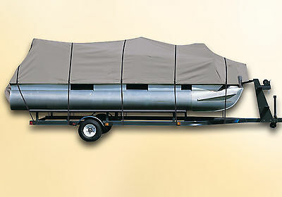 DELUXE PONTOON BOAT COVER Fisher 18 Spirit TRAILERABLE