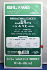 15 Pioneer Pocket Photo Album 4 by 6 Inch Refill Sheets for Jpf-46 Album