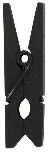 im 10er Set Ib Laursen  mini Wäscheklammer Holzklammer mini Schwarz 3895-24