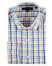 Tommy Hilfiger - Mens 17.5 34/35 XL Classic Fit- Yellow/Blue Gingham Dress Shirt