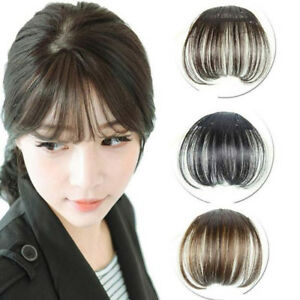Women-Clip-Bangs-Hair-Extension-Fringe-Hairpieces-Hair-Clips-Front-Neat-Bang-Hot
