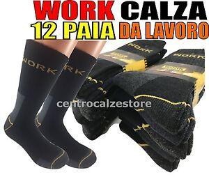 12-PAIA-CALZE-CALZINI-UOMO-DA-LAVORO-RINFORZATI-RESISTENTI-WORK-SOCKS