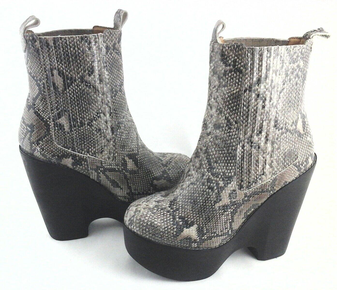 JEFFREY CAMPBELL Ankle Stivali Platform Python Snake STEVIE Donna US 9 EU 39  249