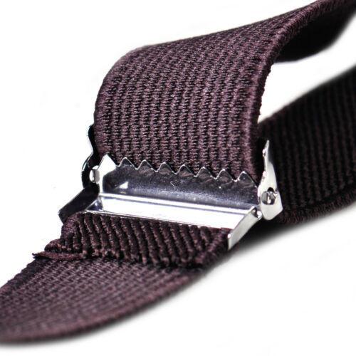 25mm Unisex Men Women Braces Suspender Elastic Clip-on Solid Belt Adjust Y Shape