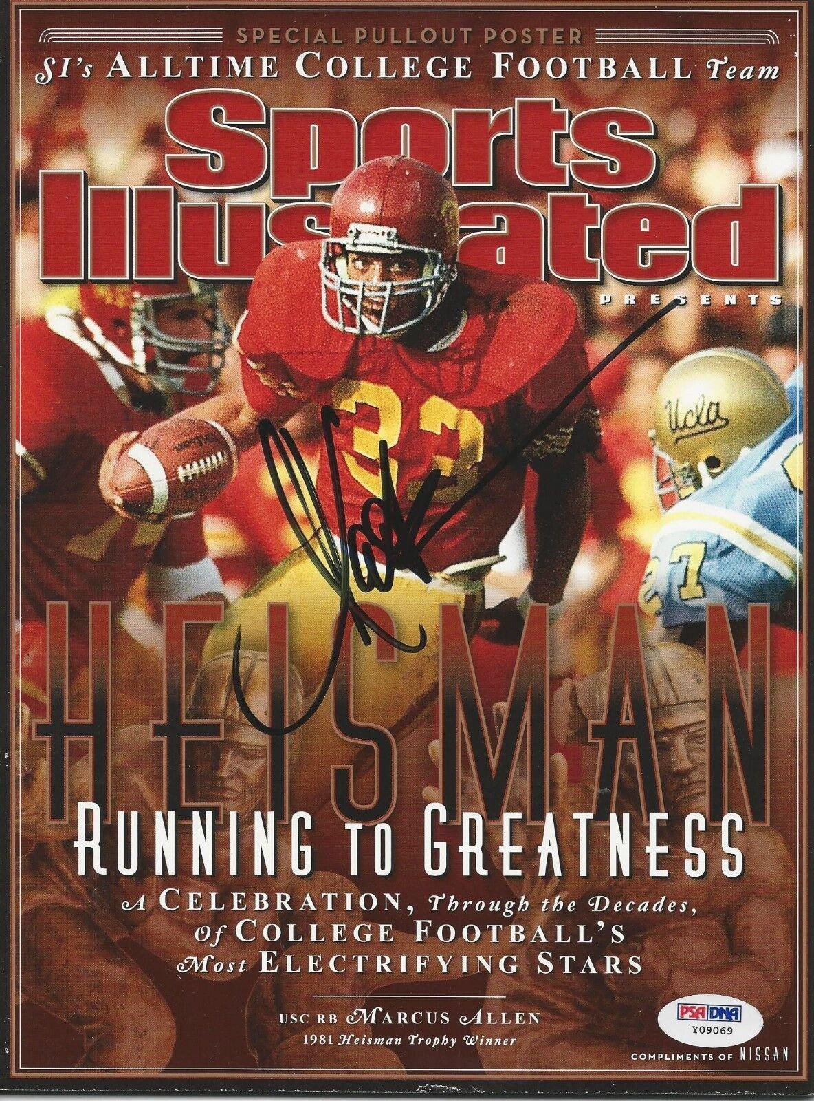 Marcus Allen Signed Heisman Sports Illustrated Magazine PSA/DNA Cert # Y09069