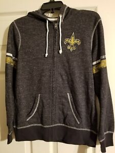 bcc6129d Details about New Orleans Saints women's large jacket NWT with hood by  Majestic fan fashion