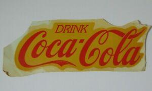 Old-Antique-Vintage-1960s-DRINK-COCA-COLA-POP-SODA-ADVERTISING-WATER-DECAL-8-034