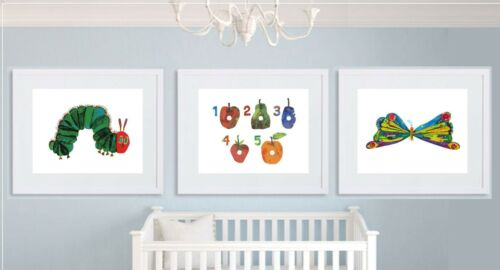 The Very Hungry Caterpillar set of 3 Nursery wall art Prints