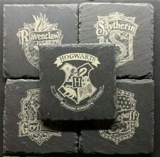 Harry Potter House Crests & Hogwarts Slate Coasters