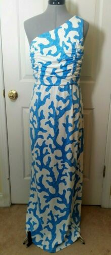 J MCLAUGHLIN White Blue Catalina Cloth One Shoulde