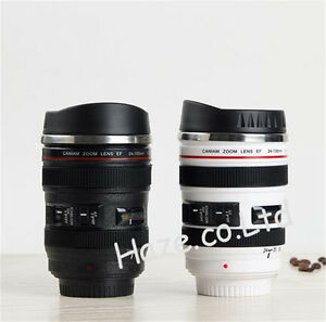 Caniam-Camera-24-105mm-Lens-Shaped-Drink-Thermos-Coffee-Cup-Mug-White-Black
