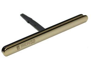 Original-Sony-Xperia-M5-M5-Dual-Abdeckung-Kappe-Cover-SD-und-SIM-Karte-gold