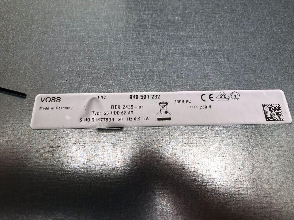Glaskeramisk kogeplade, Voss 55 HDD 62 AO, b: 70 d: 51 h: 4
