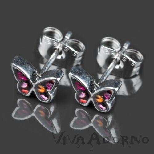 1 Paar Ohr Stecker Schmetterlinge Rockabilly Edelstahl Ohrringe Totenkopf Z363