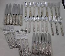 36 ps S Kirk Son Repousse Sterling flatware service set 6x6 No mono