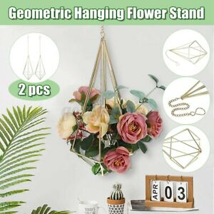 2PCS-Iron-Hanging-Wall-Plant-Flower-Pot-Shelf-Rack-Holder-Bracket-Home-Decor
