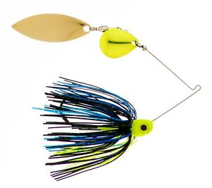 3//8oz Spinner Bait  Chartreuse Willow//Willow 3-pack FREE SHIPPING!!!!!