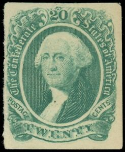 CSA Confederate States, Scott #13, Mint-F/VF, Sm. Part Original Gum, SCV $45.00!