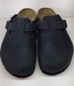 b678c56706aadd Birkenstock Boston 1002586 Size 39 L8M6 R Black Nubuck Soft Footbed ...