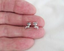 Sterling Silver 8mm Puppy Dog Hypo-Allergenic Post stud earrings.