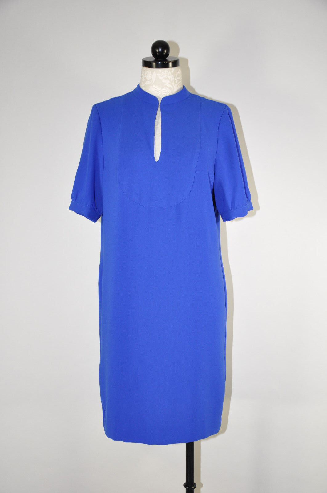 J CREW Cobalt bluee Crepe Collar Short Sleeve Straight Shift Shift Shift Tunic Dress Women 6 9c7bed