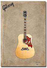 "Guitar Gibson Dove 1960 Fridge Magnet Collectible Size 2.5"" x 3.5"""