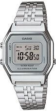 Orologio Casio LA680WA-7DF acciaio vintage fondo silver digitale chiaro unisex