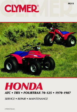 Honda ATC TRX & Fourtrax 70-125 1970-1987 Repair Service Shop Maintenance Manual