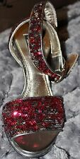 Womens Dolce & Gabbana DG D&G heels multi-colored sequin, 38 (US 8), worn once