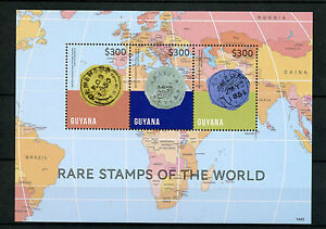 Details about Guyana 2014 MNH Rare Stamps of World 3v M/S Cotton Reels  First Postage Stamps