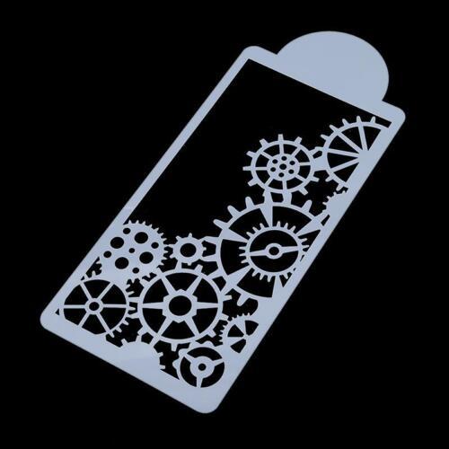 Gear Cake Stencils Fondant Mold Spray Pattern Printing Diy Decorating Decor SL3