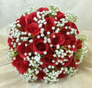 Artificial Silk Flower Red Roses Baby S