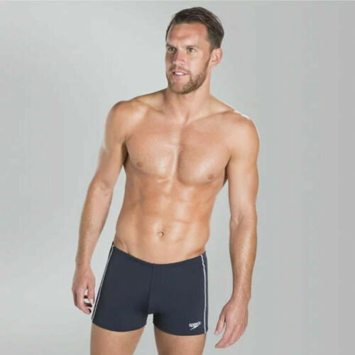 "Speedo trunks Mens 36/"" Essential Classic Aquashort Navy Blue Sports 0855"
