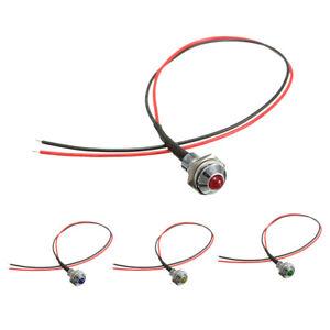 8mm Car LED Dash Panel Pilot Warning Light Indicator Lamp K6Y8